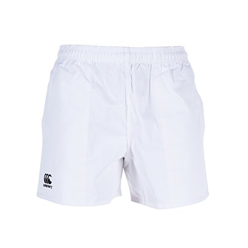 White Rugby Shorts - Canterbury Professional Cotton Men's Shorts, White, S