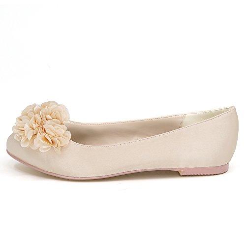 Flores De Zapatos Las Bombas Blanco 9cm Tal Baile Mujeres Boda La Elobaby por Sandalias Cerrado De De Noche Redondo Marfil zIqB6d