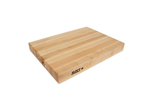 John Boos RA02 Maple Wood Edge Grain Reversible Cutting Board, 20 Inches x 15 Inches x 2.25 Inches - Butcher Block Restaurant