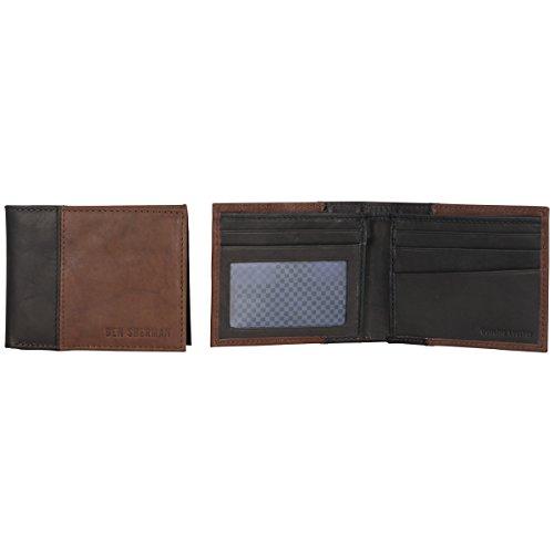 - Ben Sherman Men's 5-Pocket Bi-Fold Wallet