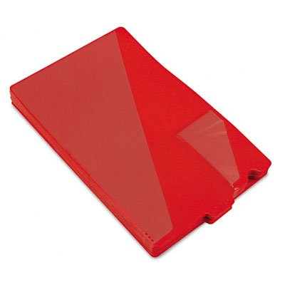 Smead Out Guides with Diagonal-Cut Pockets, Poly, Legal, Red, 50/Box by Smead
