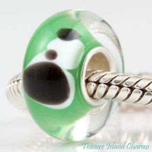 Harissa Puppy Dog LAMPWORK Murano Glass 925 Sterling Silver European Bead Charm Crafting, Bracelet Necklace Jewelry Findings Jewelry Making Accessory