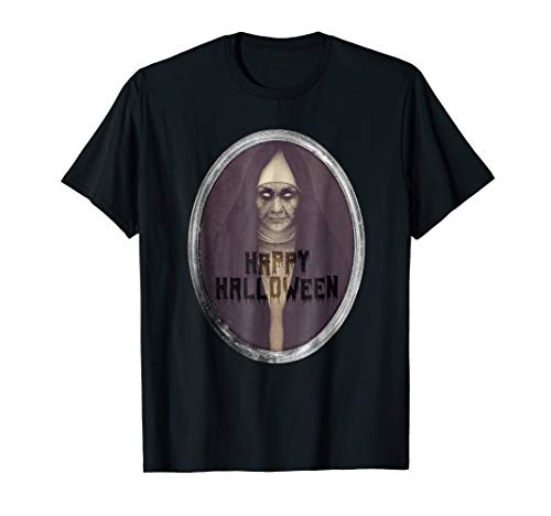 Scary Mirror Nun T-Shirt - Halloween Shirt - Happy Halloween
