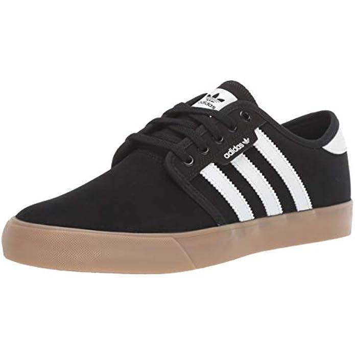 adidas Originals Men's Seeley Sneaker, Black/White/Gum, 10 M US