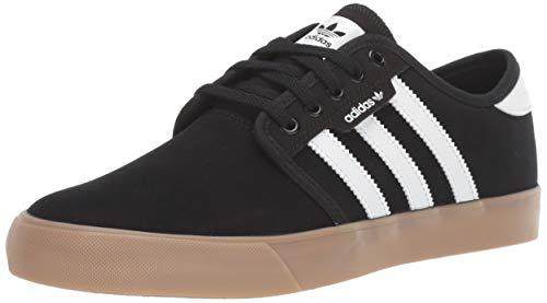 adidas Originals Men's Seeley Sneaker, Black/White/Gum, 4 M US (For Cheap Shoes Men Skate)