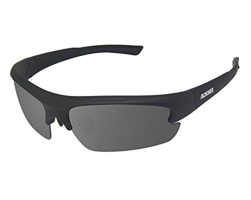 Aoknes Polarized Sports Sunglasses Driving Sun Glasses For Men Women Unbreakable Frame For Cycling Driving Running