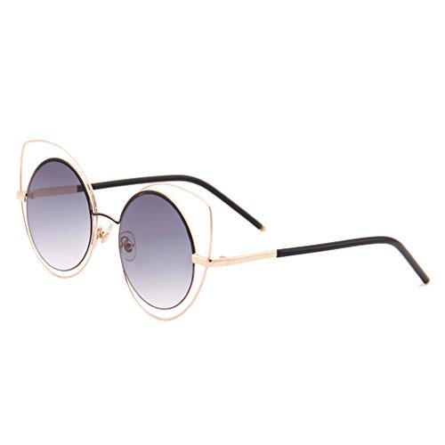 Eizur Donne Occhiali Da Sole Occhi di Gatto Occhiali Eyewear Retro A Forma Di Freccia Specchio Sunglasses UV400 con Caso - Rosa + Oro PMKYcOJGt