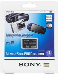 Sony 2 Duo - Sony 4 GB Memory Stick PRO DUO (Mark 2) / MS Pro Duo