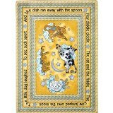 Joy Carpets Kid Essentials Infants & Toddlers Hey Diddle Diddle Rug, Yellow, 7'8'' x 10'9'' by Joy Carpets