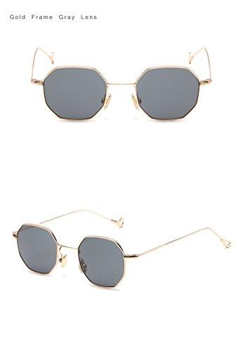 Unisex Square Designer Sunglasses Glasses Trend Blue Men Sun Eyeglasses Tinted Lunette Brand Hexagon Gris Oro Women Pink For Eyewear Fygrend 5vwZn05