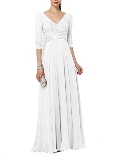 Pailletten Brau Brautmutterkleider Zahlreichen La Abendkleider Neu V mit Partykleider Ausschnitt mia Steine Weiß Ballkleider 2018 OwqxBFq5p
