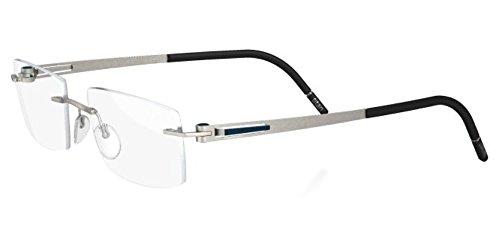 Silhouette LITE Twist 5330/08 Eyeglasses 6063 Silver Suede/Black - Glasses Frames Lite