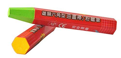 PANDA SUPERSTORE Children Oil Pastels Washable Crayons/Non-Toxic Color Pens, 18ct (Random Color)