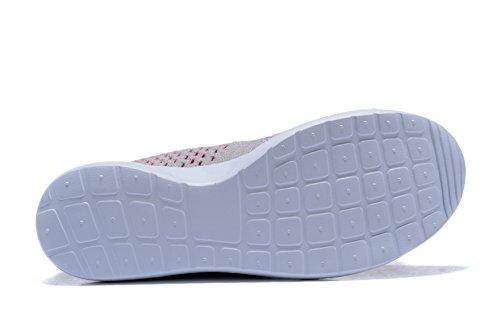 Sintético Material para gris rosa Zapatillas Running Kenswalk de Hombre de wqXvxIZ