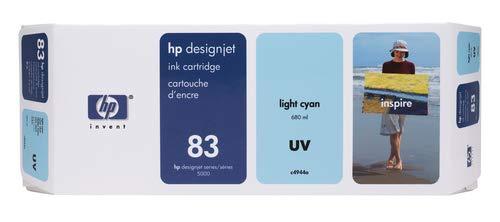 (HP 83 C4944A UV Ink Cartridge for DesignJet 5000 series, 680ml, Light Cyan)