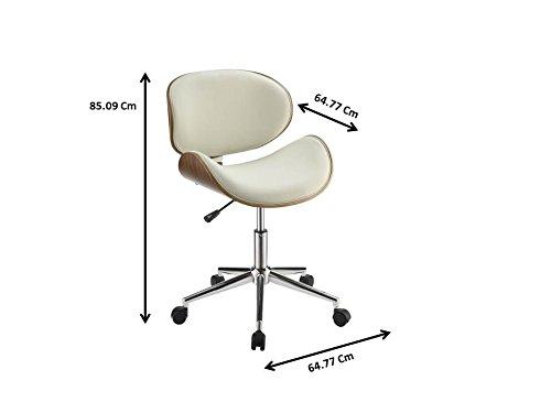 Coaster Home Furnishings 800615 Leatherette Office Chair, NULL, Ecru by Coaster Home Furnishings (Image #3)