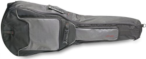 Stagg STB-GEN 20 W Deluxe Acoustic Guitar Gig Bag with 20-Millimetre Padded Interior - Black Deluxe Gig Bag Acoustic Bass