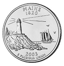2003 P Maine State Quarter Choice Uncirculated