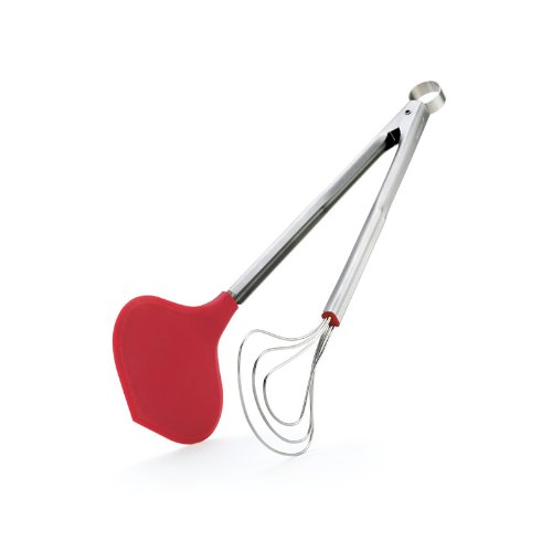 Browne & Co 65506174051 CUISIPRO Fish Tongs Red, One size,