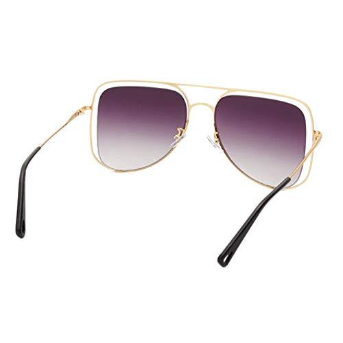 gafas de anti sol conducen sol de sol único de Gafas lentes gafas de las de de las las redondas hueco del que de las Gris sol diseño ULTRAVIOLETA lentes Dorado de sol 0qOz1w