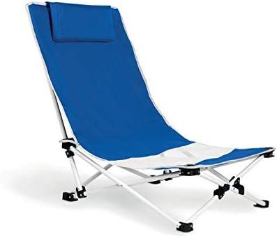 Publiclick Silla Plegable Playa Azul con cojín Cervical ...