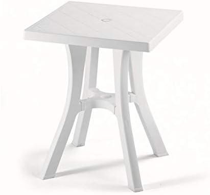 Mesa Daddy Art. 946 para exterior de resina – Medida 60 x 60 cm – con 4 patas ajustables – Fabricado en Italia: Amazon.es: Hogar