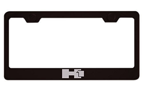 Hummer H1 Black License Plate Frame with Caps for sale  Delivered anywhere in USA