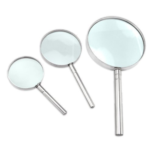 Long Taill Industry Magnifier Set - Handheld, 3 Pc