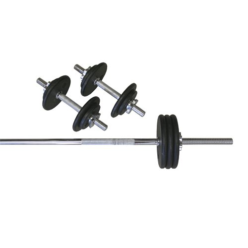 Amber Sports 110-Pound Threaded Weight Set