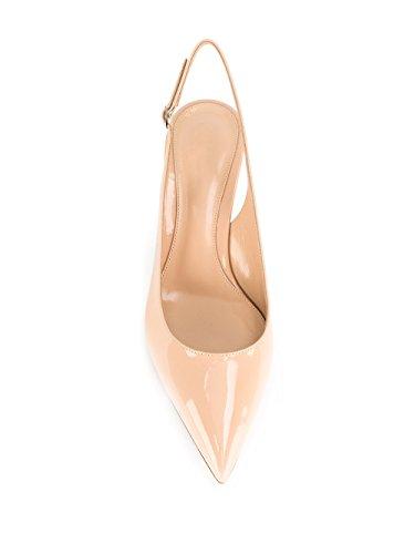 Arriere Escarpins Stiletto EDEFS Escarpin Mariage Femme Chaussures Beige Bride qzxnEA4H