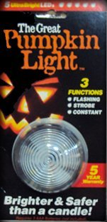 The Great Pumpkin LED Candle Light - 3 Functions Flashing, Strobe & Constant Settings (1/pk)