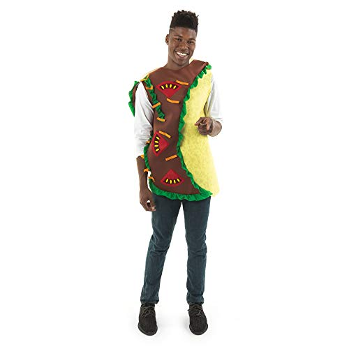 Good Halloween Costumes For Last Minute (Spicy Taco Halloween Costume - Mexican Funny Food Adult Tortilla Burrito)
