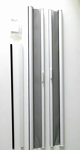 Retractable Doors Screen Doors French - Casper Retractable Double Door Screen (White)