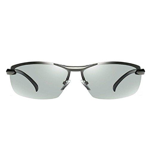 54b5777bb9 Best buy Fashion Mens Polarized Photochromatic Sunglasses Fashion Driving  Transition Glasses Lens (Silver)