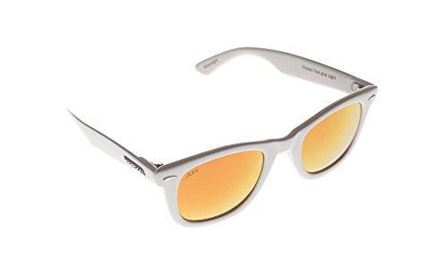 Waveborn Sunglasses Moonlight Sunglasses, White, Orange UV-Mirror - Bans White Ray Wayfarer