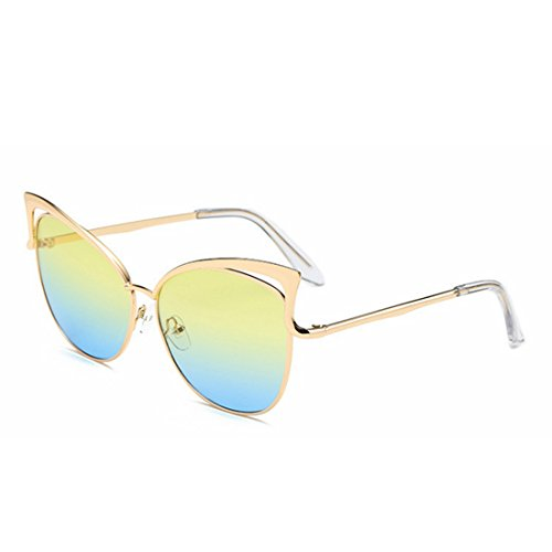 Yellow Lady Clear Lens Silver Glasses Lunettes Frame Sakuldes de Soleil blue Color qMvtpgp