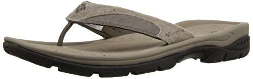 Columbia Men's Tango Thong II Athletic Sandal, Pebble, Cordovan, 10 D (Athletic Thong Sandals)