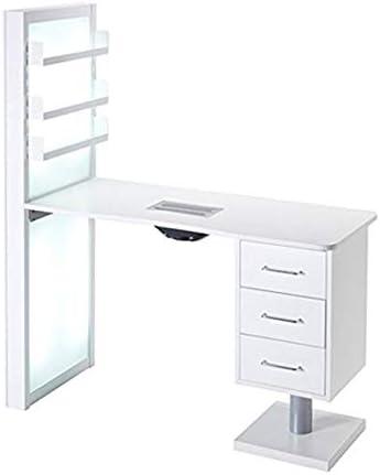 Mesa de manicura con estantes y parte trasera luminosa con aspirador de polvo Ambalfi BMP: Amazon.es: Belleza