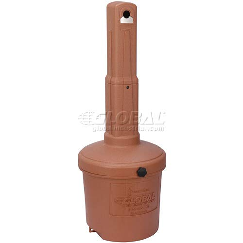 Global Industrial Terracotta Outdoor Ashtray - 5 Gallon (7 Pack)