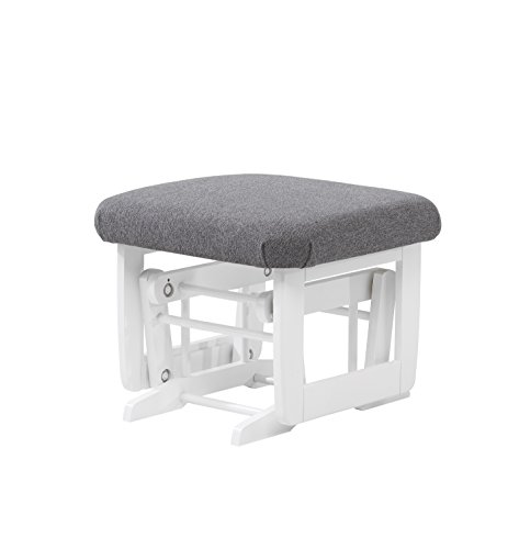 Dutailier Modern Glider with Multiposition, Recline and Ottoman Combo, White/Dark Grey by Dutailier (Image #3)