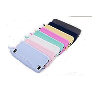 QJM iPhone 5/iPhone 5S compatible Solid Color/Special Design/Other/Novelty Back Cover , White