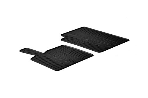 (Gledring 0276 Custom Fit All Weather Rubber Floor Mats - 2005-2018 - Smart 451 fortwo - 2 Piece Set - Black)