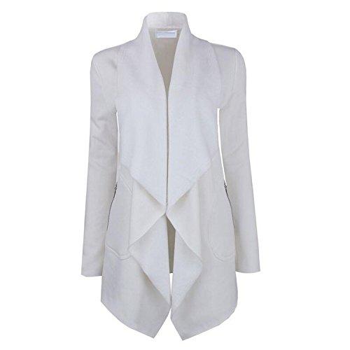 Hyunong New Women's Double Row Metal Buckle Long Sleeve Small Blazer (66 Route Blazer)