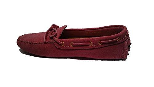 Car Shoe , Damen Mokassins rosa fuchsia