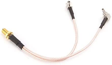 Todayday Light and Beautiful RG316 SMA Female to CRC9-TS9 Connector Cable Extension Length 15cm