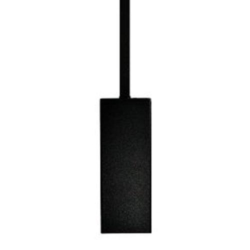 Enfoque sl-54 - WBR negro cuadrado luz pendiente de aluminio, cadena, toldo luz direccional (12 V)