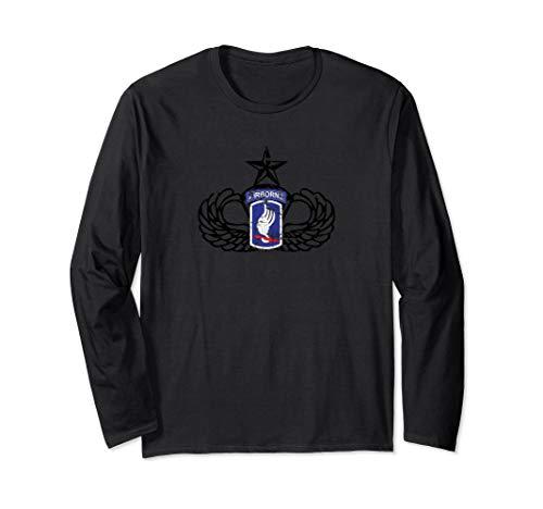173rd Airborne Division Senior Parachutist Long Sleeve Shirt (Airborne 173rd Division)