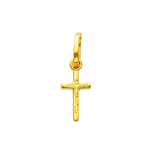 14 ct 585/1000 Or Crucifix Pendentif