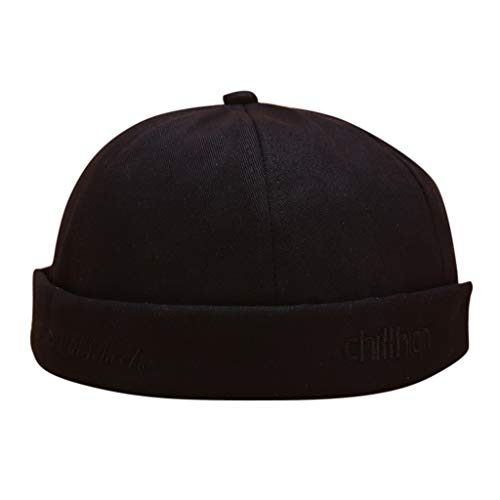 HYIRI Fisherman's hat Men Women Hat Cap Casual Docker Sailor Mechanic Brimless Solid Color - Vest Outback Reversible