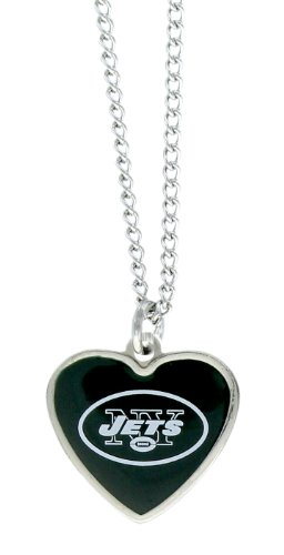 aminco NFL New York Jets Color Logo Heart Pendant
